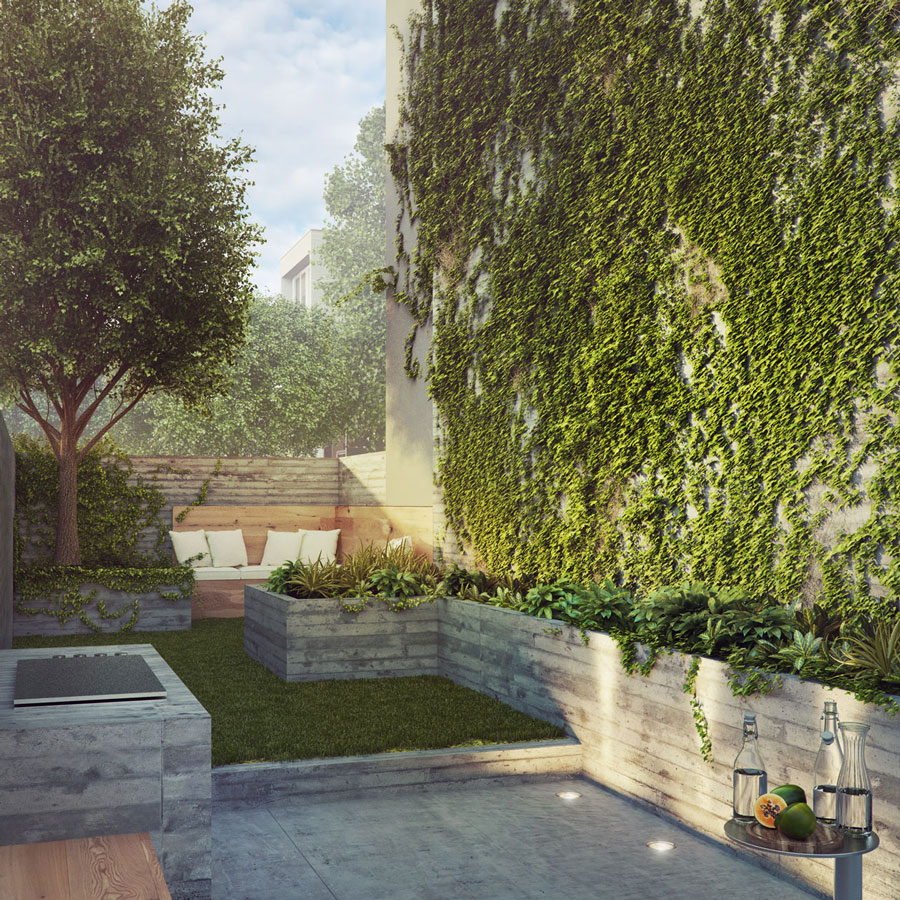 contemporary garden and environmental sustainability