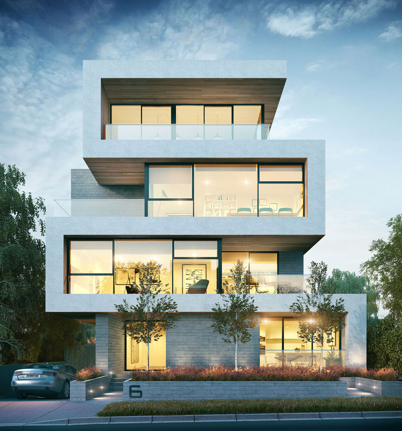 the royale apartment contemporary facade
